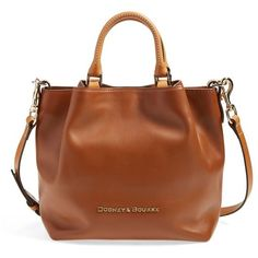 Dooney & Bourke 'City - Small Barlow' Satchel ($197) ❤ liked on Polyvore featuring bags, handbags, natural, leather handbags, dooney bourke purses, genuine leather handbags, satchel handbags and dooney bourke satchel