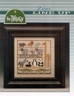 Zoo Line Up - Cross Stitch Pattern
