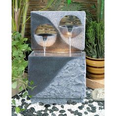 Alfresco Home Pedrera Fountain with Light #modern #home #furniture #fountains