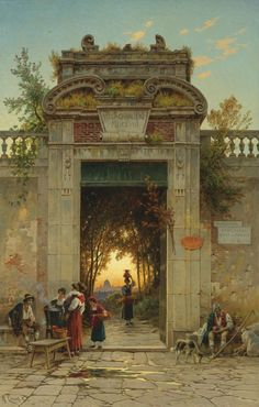 On the Via Flaminia near the Villa Cavalieri, Hermann David Salomon Corrodi