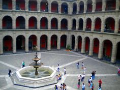 The National Palace of Mexico Courtyard
