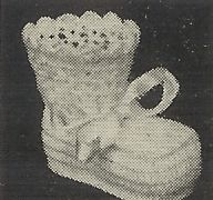 Alice Fowler Crocheted Shoe Bootee 1170