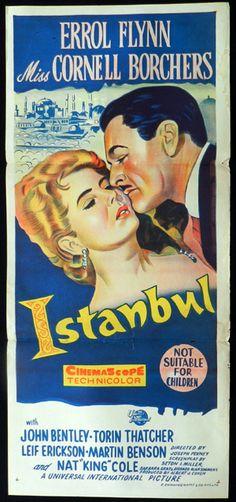Errol Flynn collectibles | ISTANBUL 1957 Errol Flynn RARE Daybill movie poster - Istanbul (1957 ...