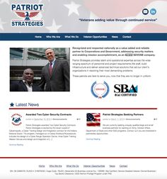 Patriot Strategies Website Design