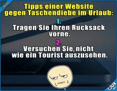 Nur ganz leicht widersprüchlich... :\  #Tourist #Taschendiebstahl #Jodel #Sprüche #Urlaub #Humor #fail #lustigeSprüche #BilddesTages #Meme #Memes