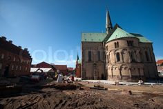 Stock image of 'Cathedral building site in Royal Ribe'