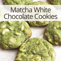 Matcha White Chocolate Chip Cookies  #matcha #matchagreentea #greentea #whitechocolate #cookies #matchateacookies #antioxidants #energy #superfood #health #nutrition #organic #recipes #recipe #delicious #nom