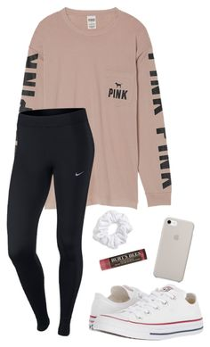 """Untitled #46"" by lily141 on Polyvore featuring Victoria's Secret, NIKE, Natasha, Converse and Burt's Bees"