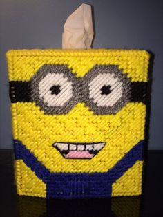 Minion Inspired Tissue Box Cover by HandcraftedHolidays on Etsy, $15.00