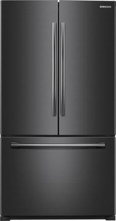 This cu. Samsung French Door refrigerator features an internal filtered water dispenser and helps keep your food fresher longer with Twin Cooling Plus technology. of ice per day. Enjoy tremendous flexibility in food . Black French Door Refrigerator, Glass Shelves Kitchen, Ikea Kitchen Design, Appliance Sale, Tempered Glass Shelves, Door Storage, Water Dispenser, Black Stainless Steel, Organizer