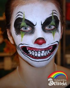 #bodypaintingbelindawurmitzer #halloween #horror #clown #facepainting