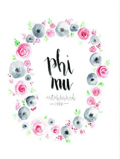 For all the Phi Mu ladies out there! If youre looking for a pretty way to display your letters, or maybe a gift for your big or little, this is