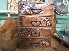 Art Nouveau Dragonfly Four Drawer Organizer.   That's unique.