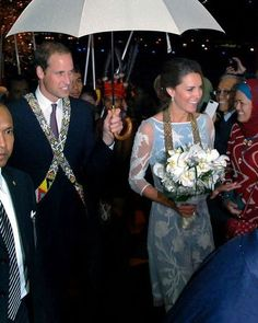 Day 4 Diamond Jubilee Tour: Prince William & Kate Middleton arrived in North Borneo (Kota Kinabalu, Sabah), Malaysia. - 14 Sept 2012.