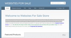 We have a lot of amazing and awesome good looking WORDPRESS website/blog designs. We sell our websites/blogs files which you can easily and instantly install on your hosting…this isn't completely websites for sale because we have not included the