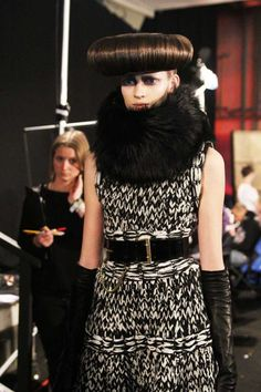 Knitwear in McQueen Fashion Show  - London Fashion Week 2012