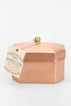 Found Goods Market Homestead Copper Tea Tin Candle