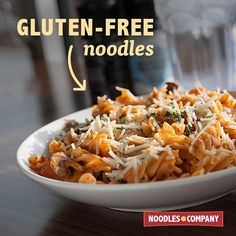 Being gluten-free doesn't have to mean noodle-free. ❤️ #pennerosa #glutenfree #noodlesandcompany