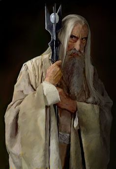 Christopher Lee as Saruman from the Peter Jackson Lord of the rings trilogy. Description from deviantart.com. I searched for this on bing.com/images