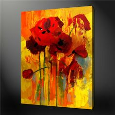 Yellow Orange Poppy Painting Quality Canvas Print Picture Modern Wall Art Design Wall Art Painting Prints On Canvas The Picture Flower Pictures 3 Oil For Home Decor 5 Modern Decoration Posters Piece Unique Gift (Stretched By Wooden Frame,Ready To Hang) BetterHomeDecor,http://www.amazon.com/dp/B00HJVF7QK/ref=cm_sw_r_pi_dp_pt-vtb0MZJ0J9SMH
