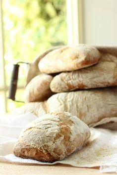Homemade Ciabatta Bread Rolls