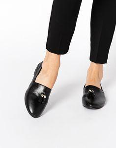 ALDO Acoania Black Tassel Loafer Flat Shoes