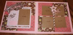 Little girl layout.  My Minds Eye, Twinkle Twinkle Little Girl.  I made this for 2 Grandaughters grade school books.  They were a gift to their Mother so she could put the pictures in herself.