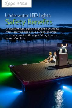 Underwater LED Lights – Safety Benefits - Underwater LED lights can prevent accidents from occurring and act as a lifesaver in the event of a small child or pet falling into the water after dark. Marine Lighting, Dock Lighting, Water Lighting, House Lighting, Lake Dock, Boat Dock, Underwater Boat Lights, Led Boat Lights, Waterfront Homes