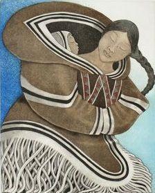 """My Anaana, by Germaine Arnaktauyok, Igloolik """" This is beautiful!"""""""