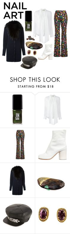 """""""Foxy nails"""" by perpetto ❤ liked on Polyvore featuring JINsoon, Maison Kitsuné, Moschino, Maison Margiela, Versace, Niin, Chanel and Marc Jacobs"""