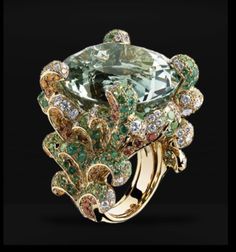Dior Ring. Looks like a peacock.