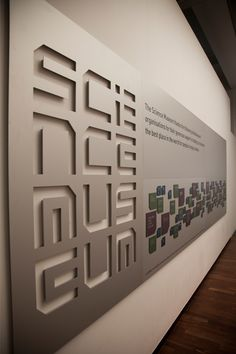 Science Museum signage © johnson banks via www.johnsonbanks....