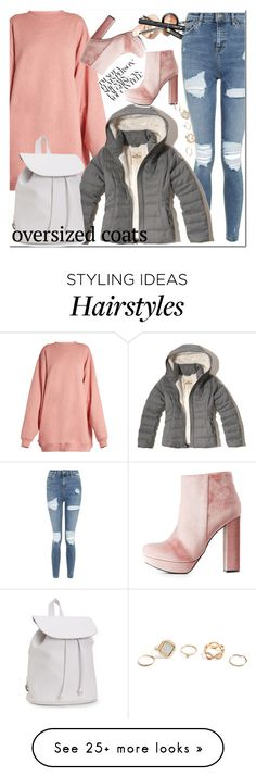 """""""#oversizedcoats"""" by yusavvaniko on Polyvore featuring Acne Studios, Topshop, Hollister Co., Aéropostale, Charlotte Russe and GUESS"""