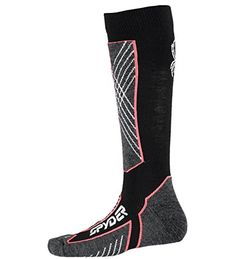 Spyder Sport Merino Sock BlackBryte PinkWhite Womens S *** Details can be found by clicking on the image.
