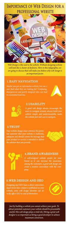 The Importance Of Web Design For A Professional Website Infographic - e-Learning Infographics Website Web, Professional Website, Brand It, Web Design, Social Media, Make It Yourself, Education, Learning, Trends