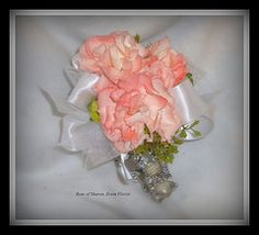 Miniature carnation wrist corsage