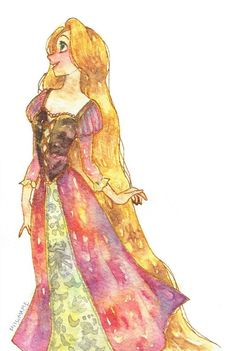 this full detail of rapunzel painting its really impressed with art work .
