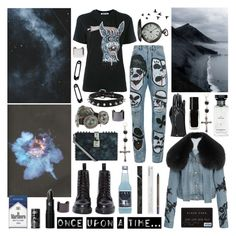 """""""be my crazy rabbit. i can't wait anymore"""" by nothingisnormal ❤ liked on Polyvore featuring McQ by Alexander McQueen, Identity, Faith Connexion, Dolce&Gabbana, Korres, Dr. Martens, Once Upon a Time, Lipstick Queen, Givenchy and The New Black"""
