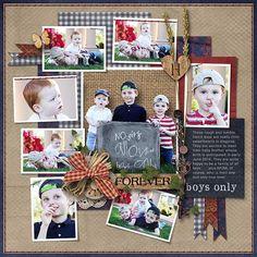 BOYS ONLY - Template: Lots & Lots 2 by Heartstrings Scrap Art https://www.digitalscrapbookingstudio.com/personal-use/templates/lots-and-lots-2/ Kit: Rustic Love by Aimee Harrison Designs