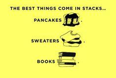 Stacks on stacks on stacks.