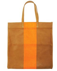 CLARE VIVIER • Neon striped carryall