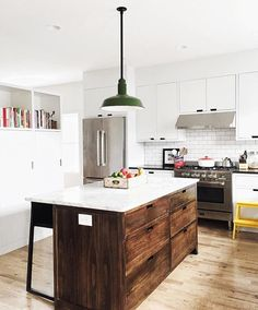 A rustic, modern kitchen we're swooning over. Thanks for sharing your #mymodern, @thefauxmartha! #kitchengoals #inspiration #rusticmodern #cleanlines