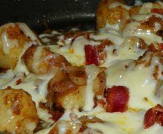 Spicy Potatoes With Smoked Gouda, Bacon & Onions