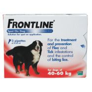Frontline Spot On Dog (Extra Large) 40-60kg    http://www.thepetmedicinecompany.co.uk/dog/flea-and-tick-treatment/Frontline-Spot-On-Dog-Extra-Large-4060kg-FRO007.php    £19.58