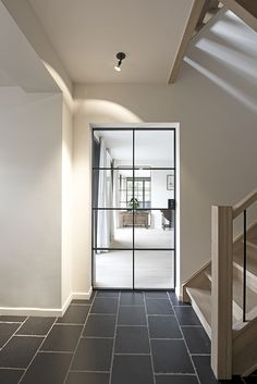 Wrought iron door with glass- Porte en fer forgé avec verre Wrought iron door with glass - House Design, Wrought Iron Doors, House, Modern Houses Interior, Home, Interior Architecture, Doors Interior, House Interior, French House