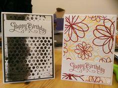 Happy Birthday Embossed Cards
