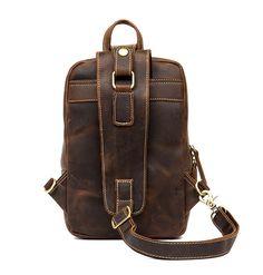 Vintage Leather Sling Backpack for Men Cow Leather, Vintage Leather, Vintage Men, Leather Bag, Sling Backpack, Leather Backpack, Fashion Updates, Sport Casual, Crossbody Shoulder Bag