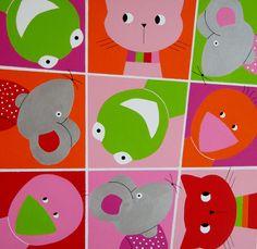 BEESTENBOEL  Kan naar eigen idee en kleuren ingedeeld worden. Erg leuk voor de kinderkamer en de babykamer