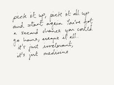 Medicine by Daughter Music Lyrics, Music Quotes, Me Quotes, Daughter Lyrics, Medicine Quotes, Sing Me To Sleep, Soul Songs, Music Is My Escape, Soundtrack To My Life