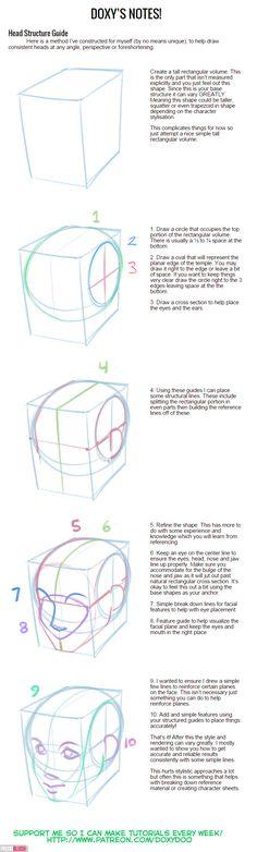 Head Structure Toot by mldoxy.deviantart.com on @DeviantArt